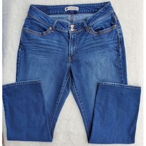Levi's 529 Curvy Straight Mid Wash Jeans Sz 14S